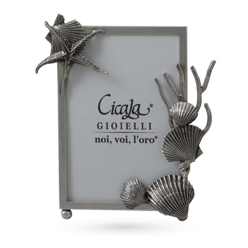 Cornice in argento 925 con fondale marino 9x13 - ITALO GORI
