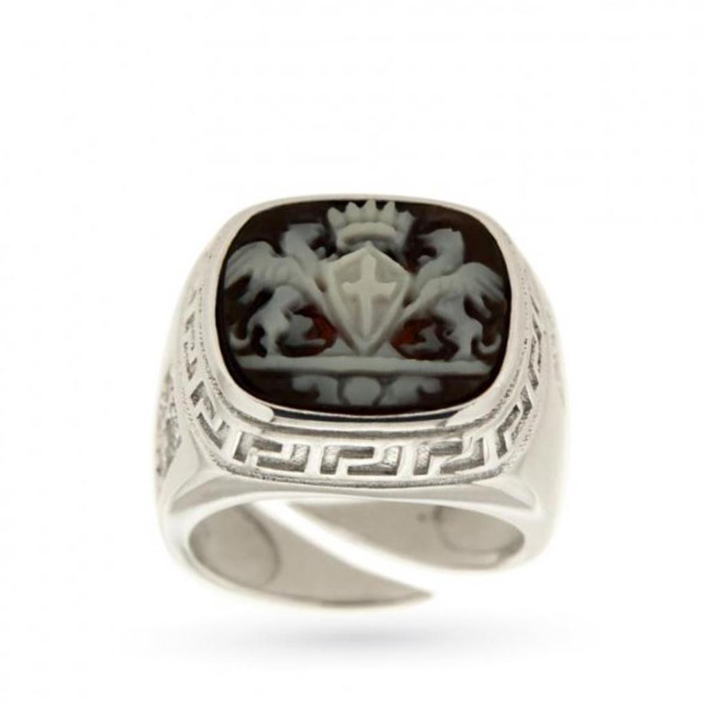 Signet ring with Genoa city coat of arms - CICALA