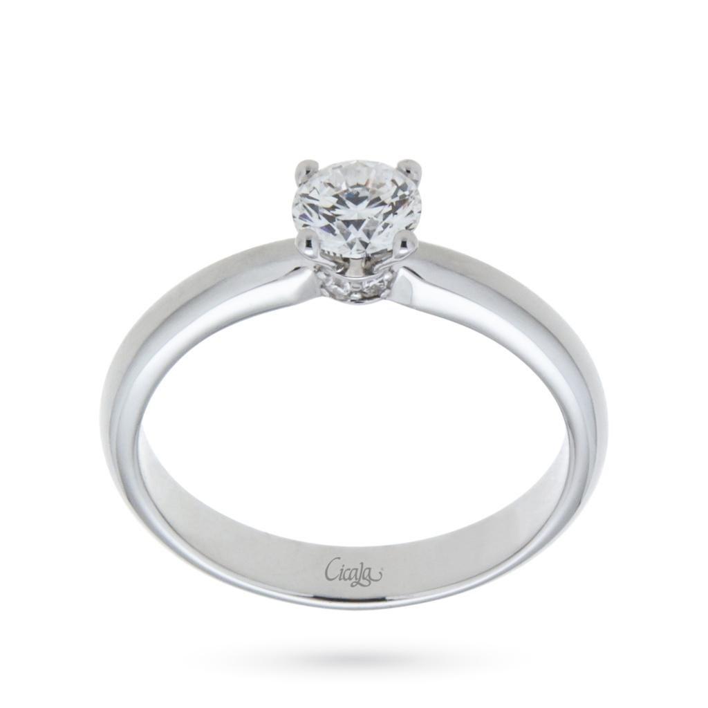 Engagement ring with diamond Elune collection 0,50ct D VS  - CICALA