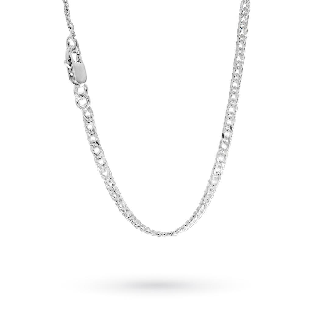 Catenina maglia groumette in argento 60cm - CICALA