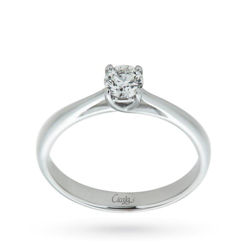 Engagement ring with diamond Afrodite collection 0,50ct G VS  - CICALA