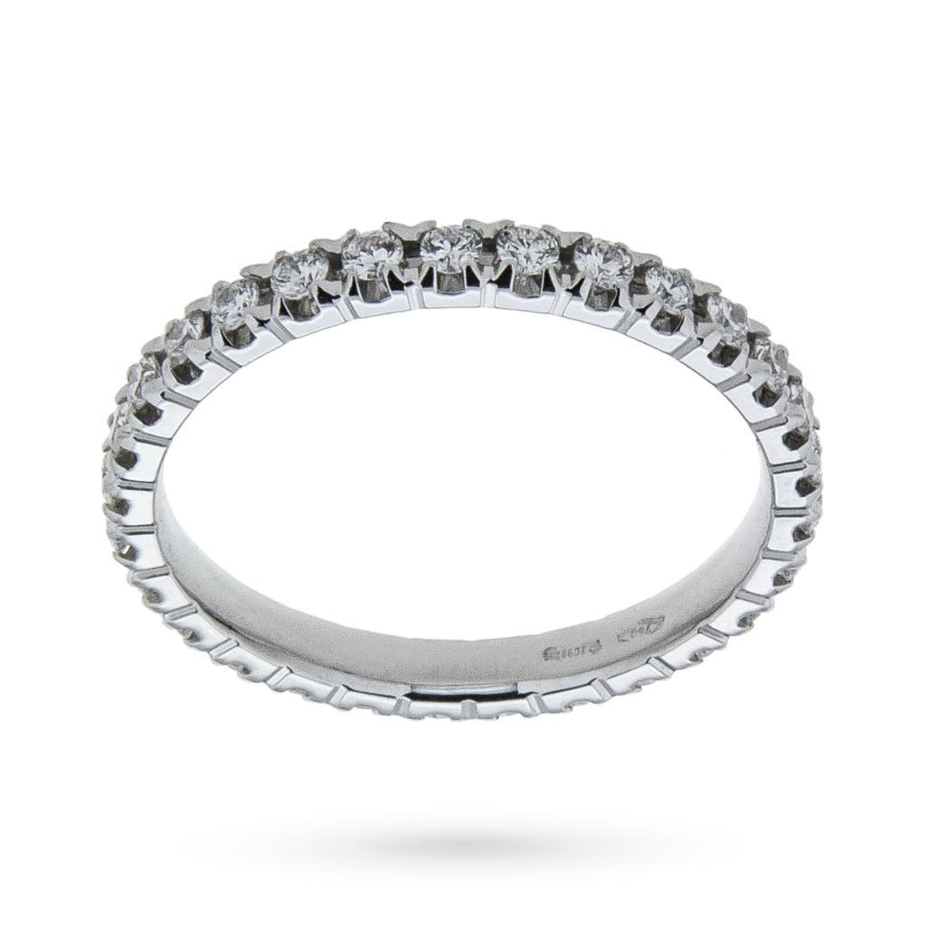 Anello eternity con diamanti ct 0,59 G VS - MIRCO VISCONTI