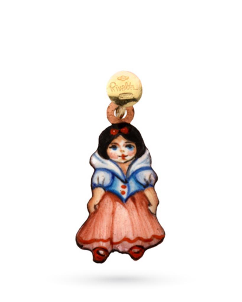 18kt yellow gold and copper Gabriella Rivalta Snow White charm - GABRIELLA RIVALTA