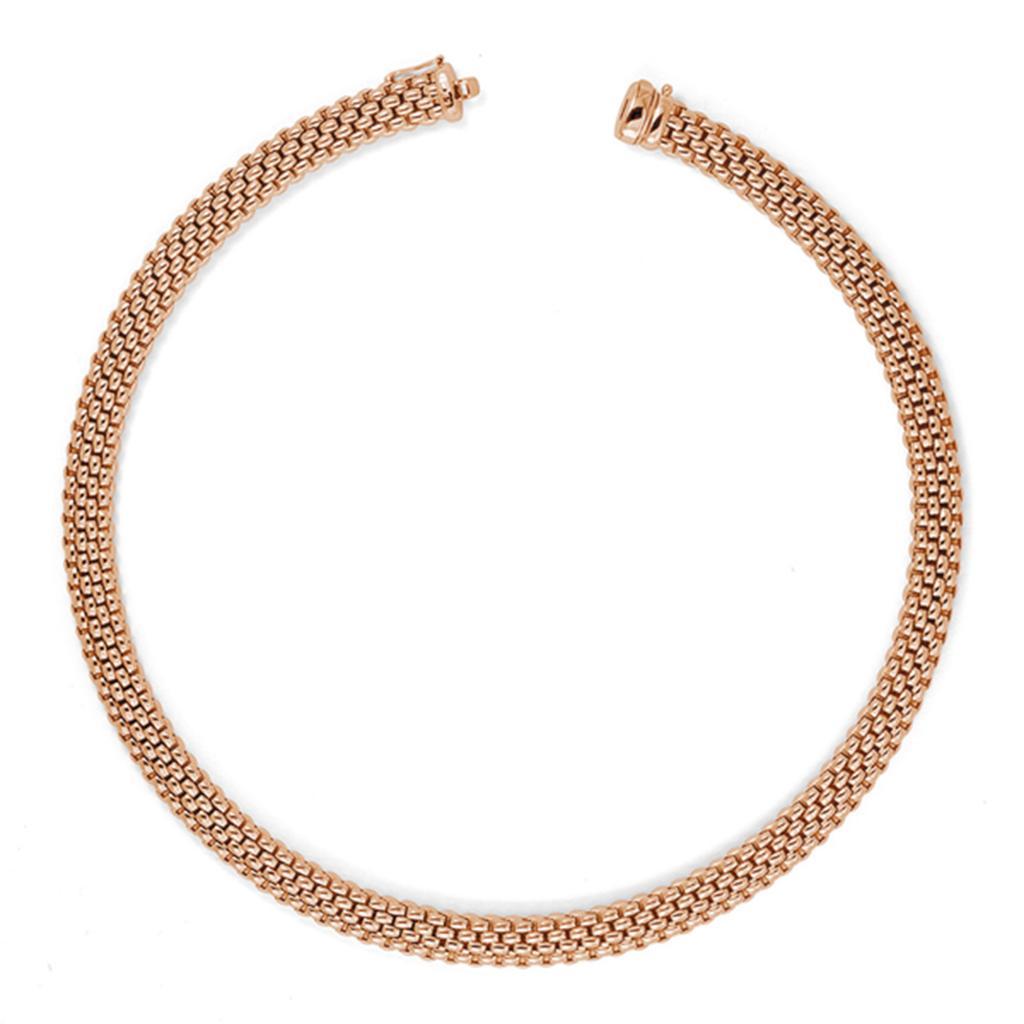 Collana FOPE piatta in oro rosa 43cm - FOPE