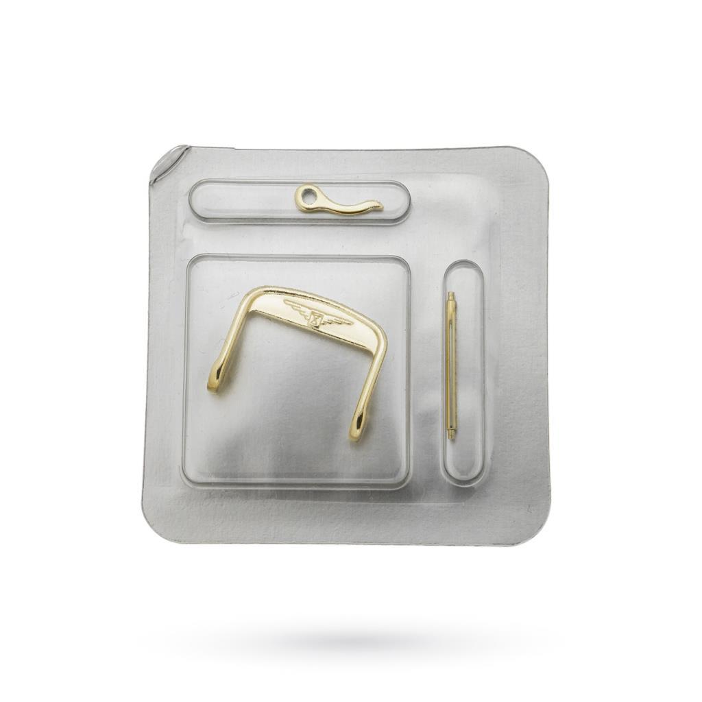 Fibbia Longines 16mm originale in acciaio PVD oro giallo - LONGINES