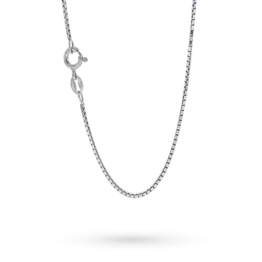 Catenina maglia veneziana piccola in argento 50cm - CICALA