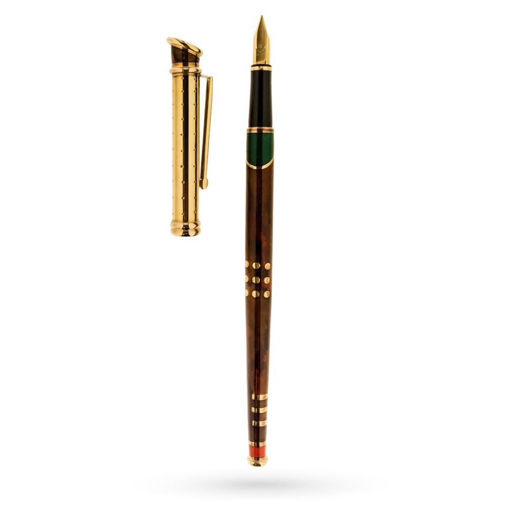 Penna stilografica Metropolitan in oro argento e smalto - LA NOUVELLE BAGUE