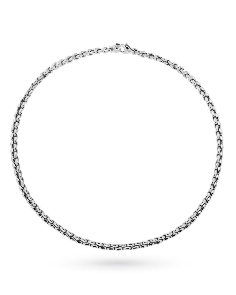 18kt white gold FOPE necklace cardano chain 45cm - FOPE