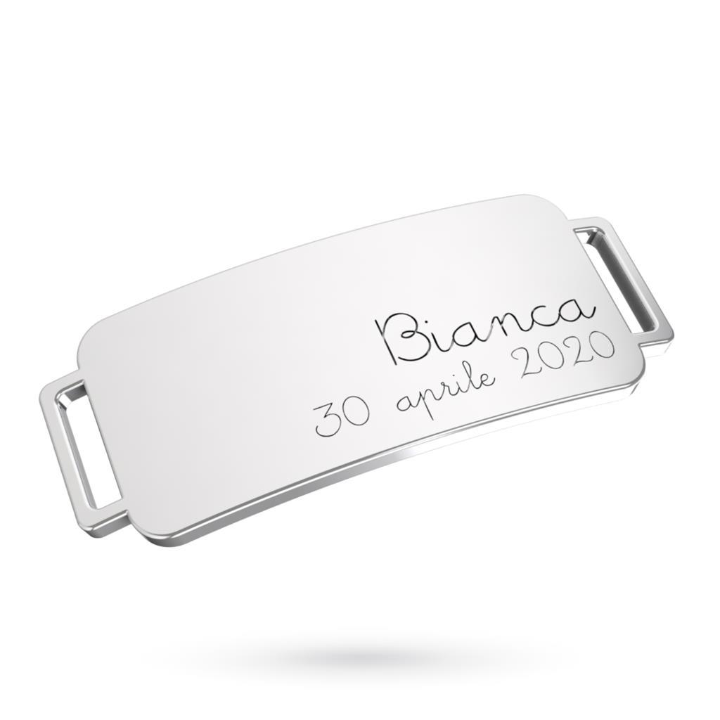 Bracciale AvecMoi in argento con cinturino sartoriale - CICALA