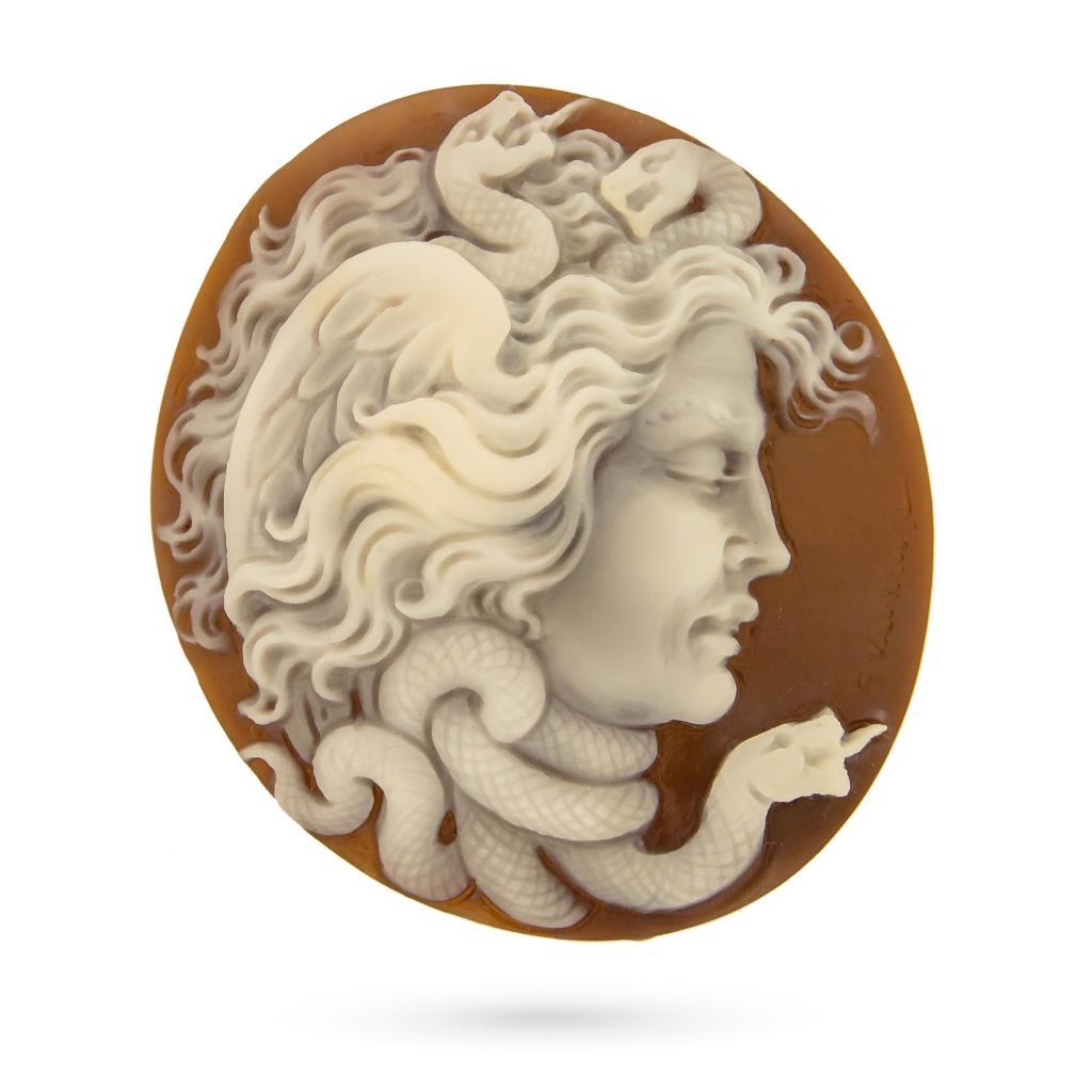 Artistic craftmade cameo of Medusa to be set  - CAMEO ITALIANO