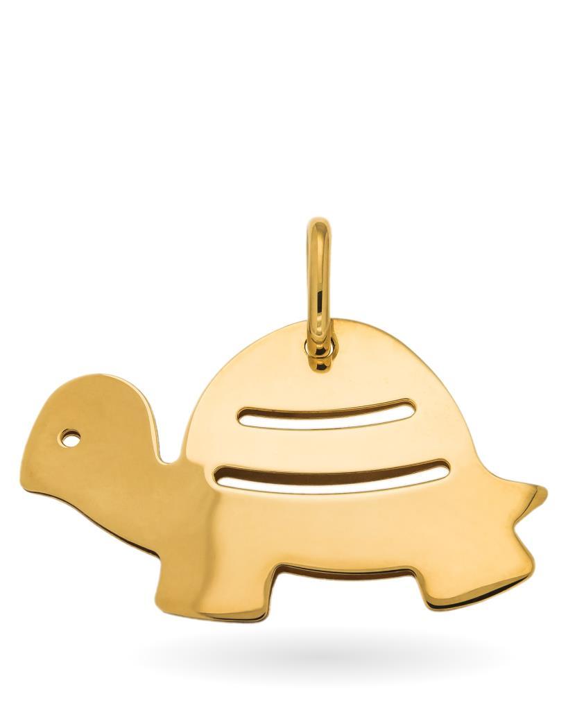 Ciondolo tartaruga in doppia lastra di oro giallo - UNBRANDED