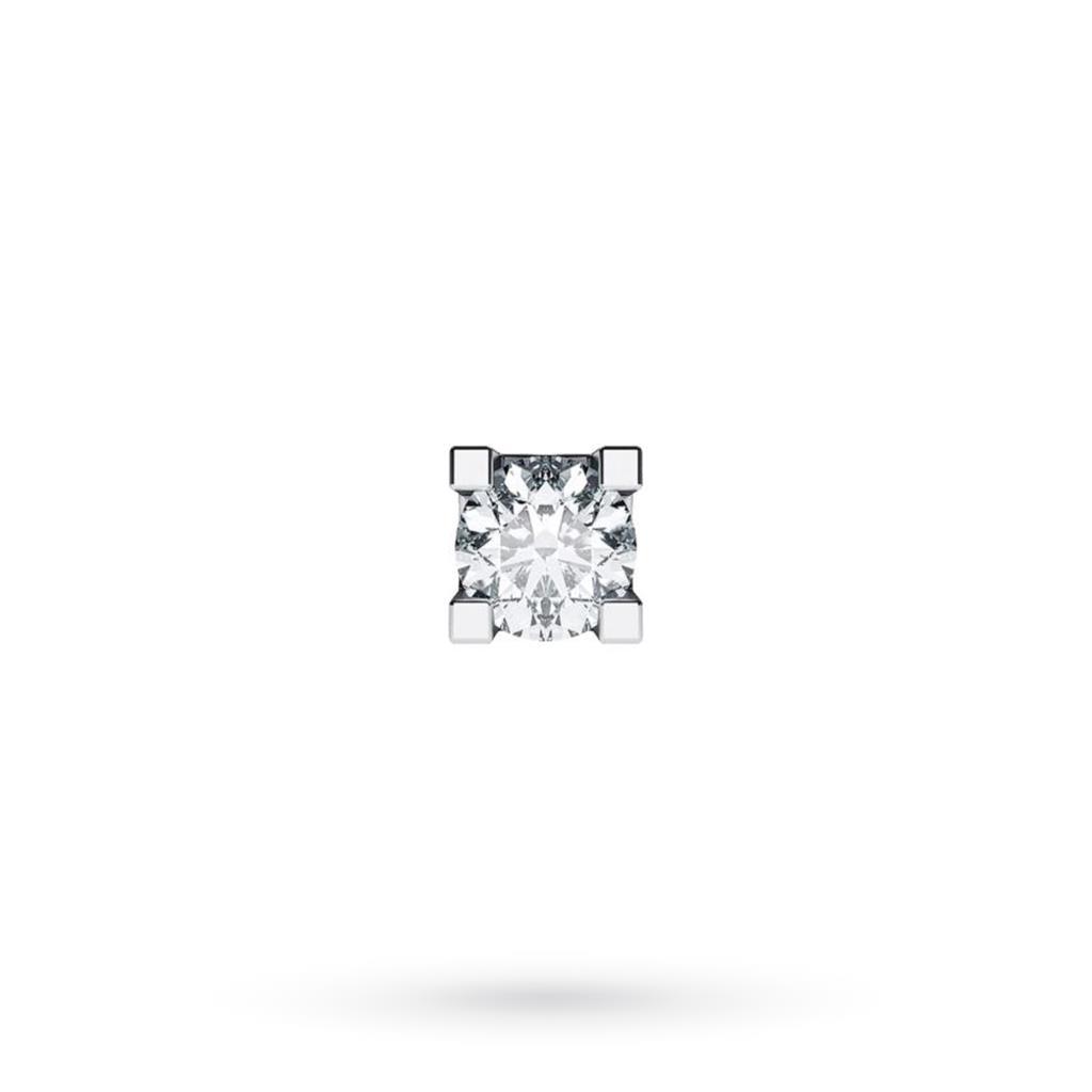 Orecchino singolo da uomo in oro bianco con diamante ct 0,06 G VS - CICALA
