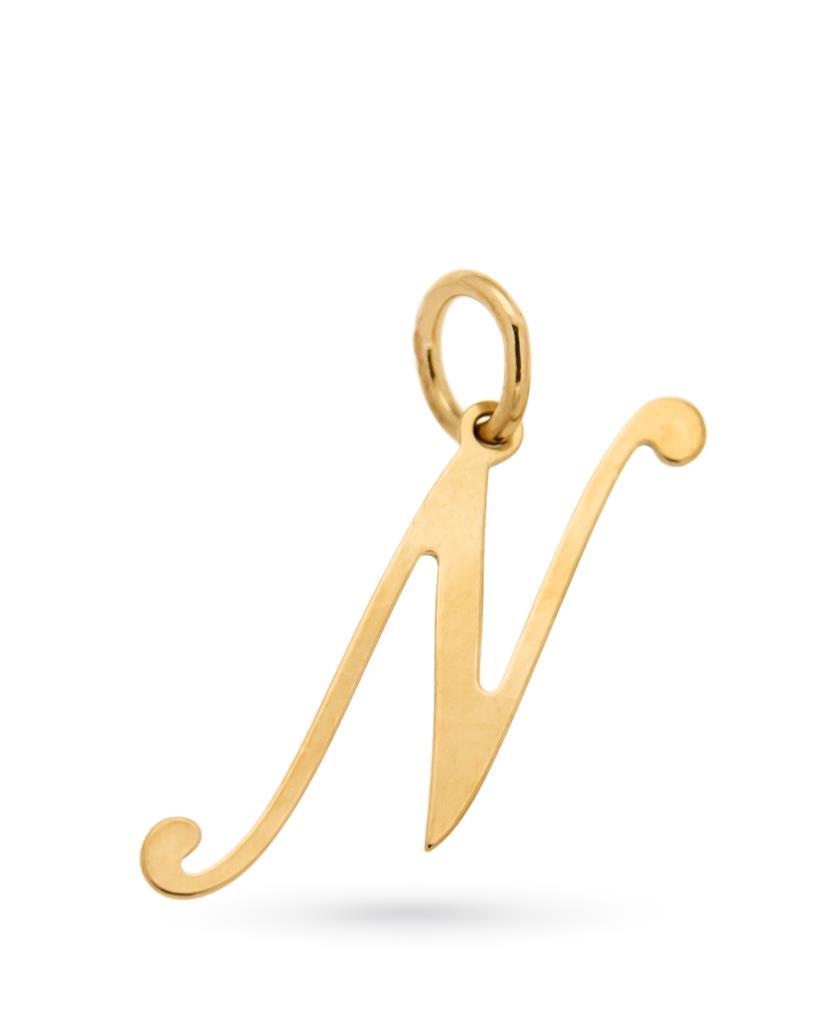 Ciondolo con lettera N in oro giallo - CICALA