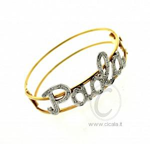 autorizzazione il più votato a buon mercato compra meglio Bracciali oro con nome brillanti – Gioielli con diamanti ...